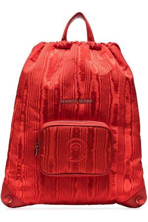 Marine Serre Women Rucksacks - Logo-lettering drawstring backpack