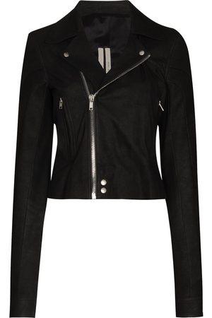 Rick Owens Women Leather Jackets - Performa biker jacket