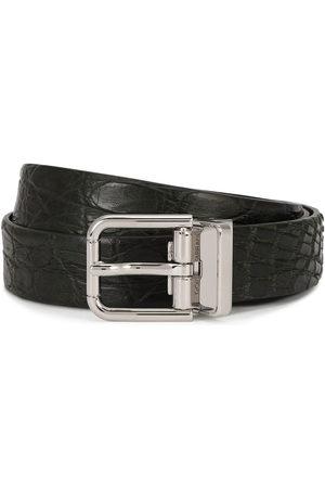 Dolce & Gabbana Embossed square-buckle belt
