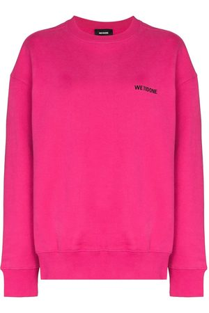 We11 Done Logo-print crew-neck sweatshirt