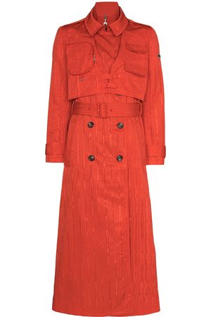 Marine Serre Women Trench Coats - Belted-waist midi trench coat
