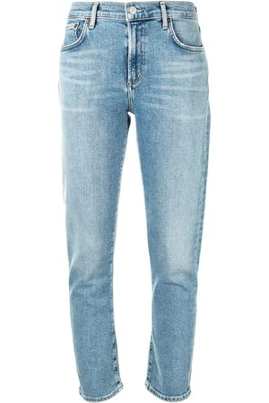 AGOLDE Cropped mid-rise skinny jeans