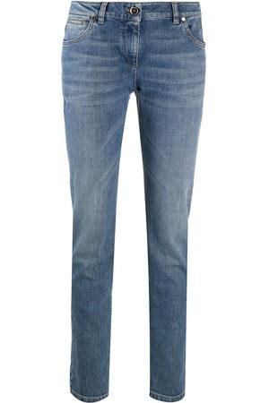 Brunello Cucinelli Women High Waisted - High-rise straight leg jeans