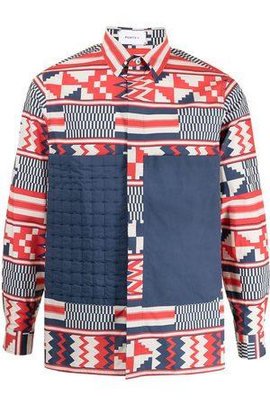 Ports V Quilt front geometric-print shirt