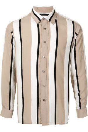 Ports V Shirts - Vertical stripe print shirt - Neutrals