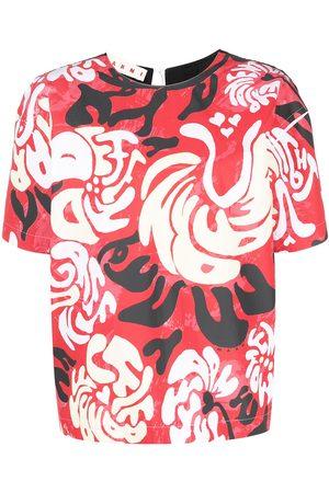 Marni Women Blouses - Graphic print short sleeve blouse