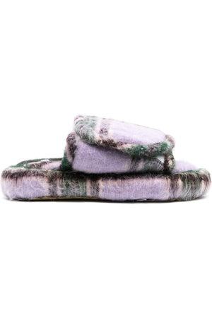 DUOltd Volume tartan wool slippers