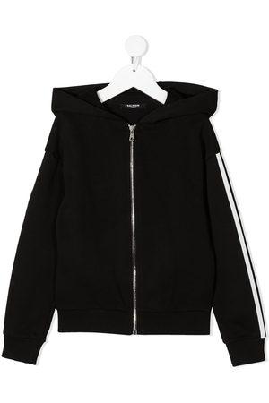 Balmain Side-logo zipped hoodie