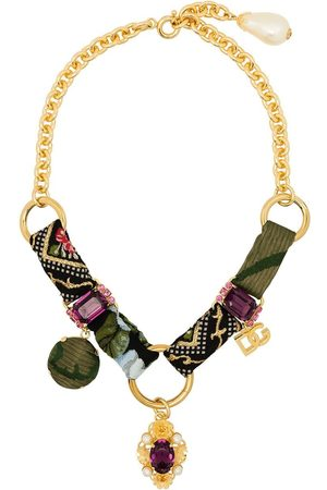 adidas Crystal embellished chain necklace