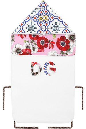 Dolce & Gabbana Floral tile motif sleeping bag