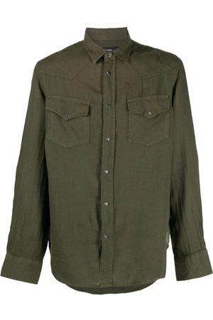 Diesel Men Shirts - Plain flap-pocket shirt