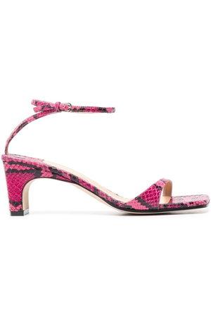 Sergio Rossi Women Sandals - Grazie Sergio snakeskin-print sandals