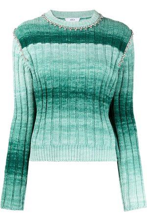 AREA Women Sweaters - Embellished ombré knit jumper