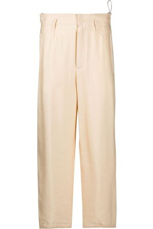 FORTE FORTE Women Straight Leg Pants - Concealed-front trousers - Neutrals