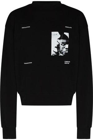 HELIOT EMIL Men Sweatshirts - Graphic-print crew-neck sweatshirt