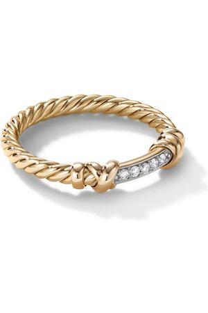 David Yurman 18kt yellow diamond Petite Helena wrap ring