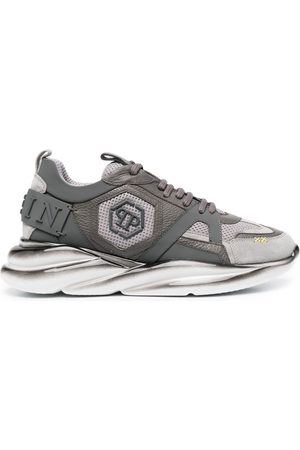 Philipp Plein Hexagon logo runner sneakers - Grey