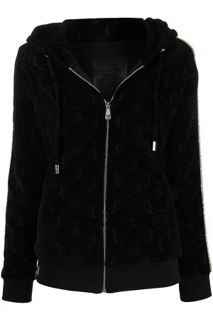 Philipp Plein Women Hoodies - Monogram zipped hoodie