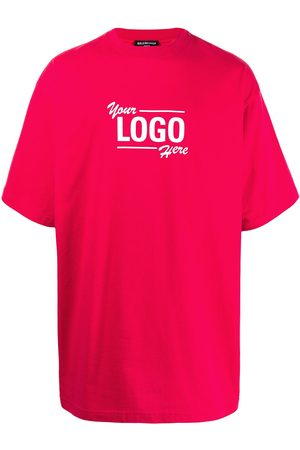 Balenciaga T-shirts - Logo-print oversized T-shirt