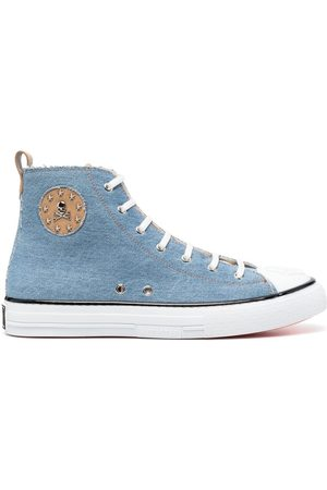 Philipp Plein Megastar denim high-top sneakers
