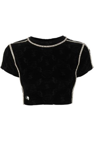Philipp Plein Logo monogram cropped top