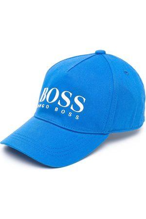 HUGO BOSS Boys Caps - Log-print cotton cap