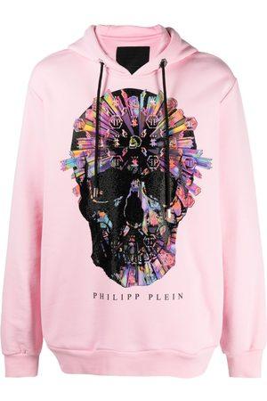 Philipp Plein Skull-appliqué hoodie