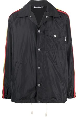 Palm Angels Men Sports Jackets - Miami buttoned coach jacket