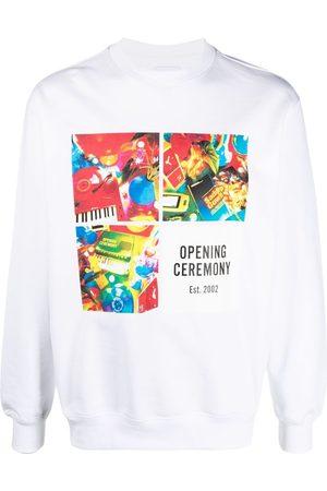 Opening Ceremony Graphic-print grid sweatshirt
