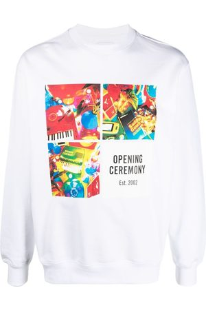 Opening Ceremony Grid-print cotton sweatshirt