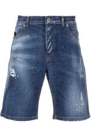 John Richmond Men Shorts - Faded effect shorts