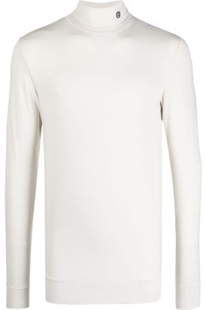 AMBUSH Embroidered-logo roll-neck top - Neutrals