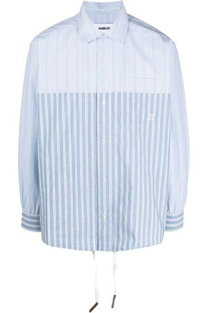 AMBUSH Men Shirts - Striped drawstring shirt