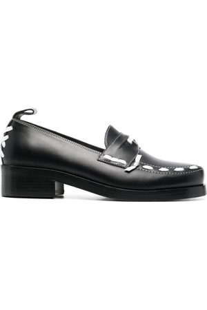 Stefan Cooke Contrast-stitch loafers