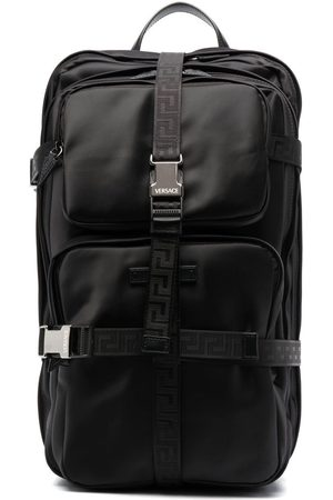VERSACE Motif-print buckle-fastening backpack