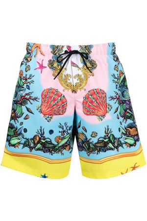 VERSACE Men Swim Shorts - Trésor de la Mer-print swim shorts