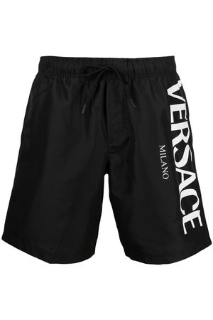 VERSACE Side-logo swim shorts