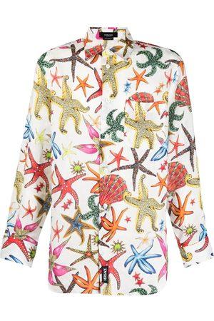 VERSACE Men Shirts - Trésor de la Mer-print linen shirt