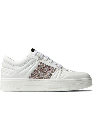 Jimmy Choo Women Sneakers - Hawaii glitter low-top sneakers