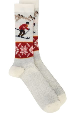 ANONYMOUS ISM Men Socks - Ski pattern wool socks