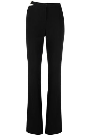 VERSACE Women Wide Leg Pants - Cut-out flared trousers