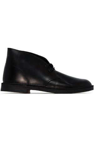Clarks Men Lace-up Boots - Leather desert boots