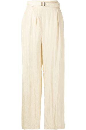 Muller Of Yoshiokubo Luster belt trousers