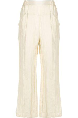 Muller Of Yoshiokubo Cropped flared trousers