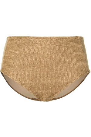 Muller Of Yoshiokubo Raffia high-waisted bikini bottoms