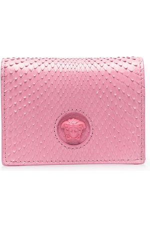 Versace Ostrich-effect leather wallet