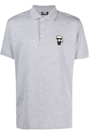Karl Lagerfeld Men Polo Shirts - Ikonik patch polo shirt - Grey