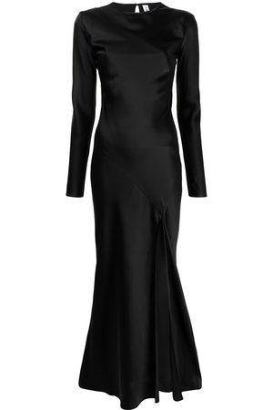 SIR Slit-detail long-sleeve dress
