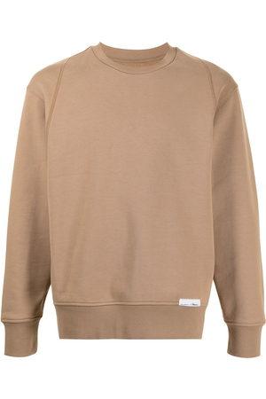 3.1 Phillip Lim Logo patch cotton sweatshirt - Neutrals