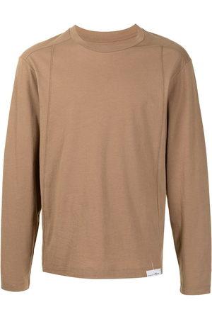 3.1 Phillip Lim Long-sleeved cotton T-shirt - Neutrals